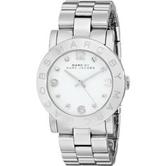 Marc by Marc Jacobs Women's MBM3054 Amy Stainless Steel Watch with... ($101) ❤ liked on Polyvore featuring jewelry, watches, stainless steel jewelry, stainless steel wrist watch, marc by marc jacobs, bezel jewelry and marc by marc jacobs watches