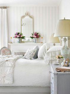 White, shabby chic, bedroom