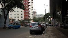 Road past hotel