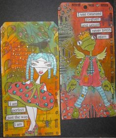 Lisa's Collage Stuff Blog: CHA Day 1 - Dylusions!