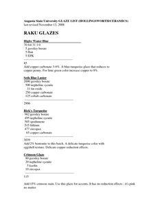 ceramic glaze recipe - Szukaj w Google