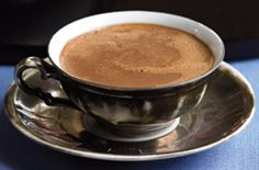 John Scharffenberger's Classic hot Chocolate. Can be stored in fridge for up to 3 days.