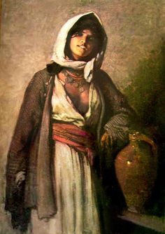 Gypsy from Gergana, 1872  Nicolai Grigescu  - wonderful recounting of this painting's history here: http://gypsy-life.net/museum_01.htm