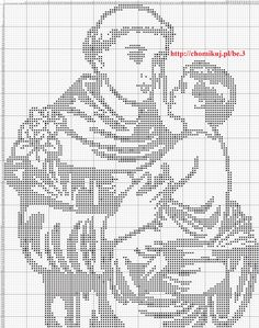 He tried to cover up his brilliant intellect. patron saint f lost articles , he hailed from Lisbon, Portugal , great Franciscan saint, Feast day June Anthony of Padua Filet Crochet, Crochet Diagram, Crochet Chart, Blackwork Patterns, Doily Patterns, Crochet Patterns, Quilt Stitching, Cross Stitching, Cross Stitch Embroidery