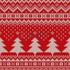 Sin fisuras patr�n de vacaciones de invierno de punto. Fondo De La Navidad photo