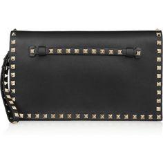 Valentino The Rockstud leather clutch (8,690 CNY) found on Polyvore wristlets 腕包 20121205