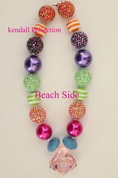 """Beach Side"" Chunky Beaded Necklace for women, girls, kids"