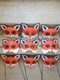 fox mask fox costume Mr and Mrs Fox by HighMoonCreations on Etsy, $12.00