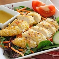 Image for Coconut Chicken Salad with Warm Honey Mustard Vinaigrette