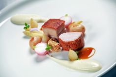 Pork chops and pork belly served with onion and crayfish wolf andras - The ChefsTalk Project