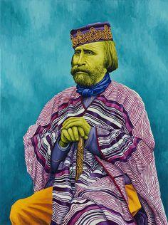 Giuseppe Garibaldi (da Fratelli Alinari, 1870) 2010, olio su lino, cm 120 x 90.