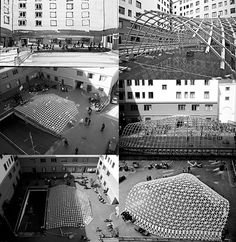 Toledo Gridshell push up www. Bending Wood, How To Bend Wood, Space Frame, Parametric Design, Logo Design, Graphic Design, Foyers, Architecture Design, Engineering