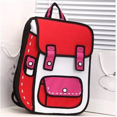 2D Drawing Comic Backpack