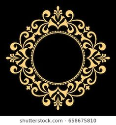 Decorative line art frame for design template. Elegant vector element for design in Eastern style, place for text. Lace illustration for invitations and greeting cards Stencil Patterns, Stencil Designs, Line Art, Molduras Vintage, Jaali Design, Coffee Cup Art, Boarder Designs, Cnc Cutting Design, Decorative Lines