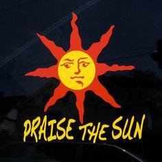 PRAISE THE SUN Solaire Armor Graphic Sticker Dark Souls Sunbro Decal