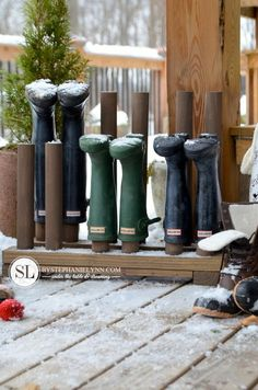 DIY Winter Boot Rack