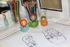 Matryoshka coloring pages for Another Celebrated Dancing Bear