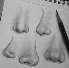 10 Amazing Nose Drawing Tutorials & Ideas 10 illustrated nose drawing ideas and inspiration. Learn how you can draw noses step by step. This tutorial is perfect for all art enthusiasts. Learn more. Pencil Art Drawings, Cool Art Drawings, Realistic Drawings, Art Drawings Sketches, Drawing Ideas, Drawing Tips, Amazing Drawings, Sketch Art, How To Draw Realistic