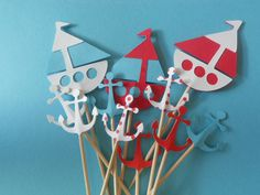 Nautical Food Picks Cupcake Toppers 24 693544926 by TheSweeetLife, $3.75