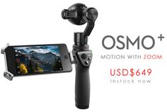 DJI OSMO+ 4K Zoom Camera and 3-Axis Stabilization Gimbal http://www.helipal.com/dji-osmo-plus-4k-zoom-camera-and-3-axis-stabilization-gimbal.html