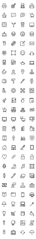 iOS 아이콘 디자인소스 100개 .AI