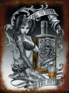 Tattoo Girls, Pin Up Girl Tattoo, Pin Up Tattoos, Girl Tattoos, Arte Cholo, Cholo Art, Chicano Art, Dark Fantasy Art, Dark Art