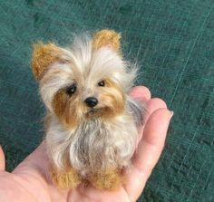 Items similar to Needle Felted Dog / Custom Miniature Sculpture of your pet / poseable / example Yorkshire Terrier Yorkie on Etsy Needle Felted Animals, Needle Felting, Wet Felting, Cute Puppies, Cute Dogs, Poodle Puppies, Animals And Pets, Cute Animals, How To Felt Animals