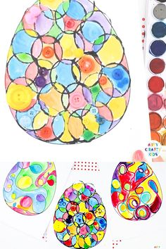 Kids Easter Egg Art Activity With a printable Easter egg template, kids can . - Children& Easter Egg Art Activity With a printable Easter egg template, children can design a - Easter Craft Activities, Easy Easter Crafts, Bunny Crafts, Easter Crafts For Kids, Art Activities, Easy Crafts, Easter Eggs Kids, Easter Art, Art D'oeuf