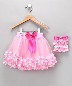 Pink Bow Ruffle Pettiskirt & Purse | Daily deals for moms, babies and kids