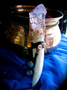 Artemis  Amethyst Antler Tip Wand by EireCrescent on Etsy, $27.99