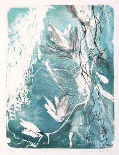 Kaisu Sirviö 2013 Kohti valoa, vedos Grafiikka, litografia 44 x 33 cm € tai € kk) Art Nouveau, Inspiration Art, Diy Art, Illustration, Drawings, Artwork, Flowers, Walls, Painting