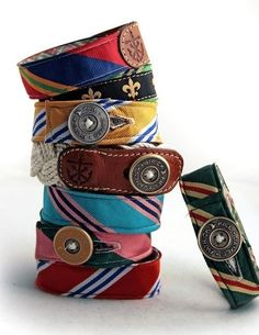 bracelets from old ties accessories