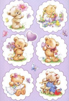 35 Best Ideas For Baby Cute Illustration Friends Tatty Teddy, Decoupage Vintage, Decoupage Paper, Teddy Bear Pictures, Cute Clipart, Cute Teddy Bears, Cute Illustration, Baby Cards, Cute Drawings