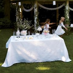 Tablecloth Siena Blanc White - Le Jacquard Français