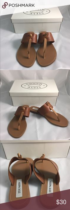 New Steve Madden tan Olivia sandals size 6 New with box. Real leather. These run small. Steve Madden Shoes Sandals