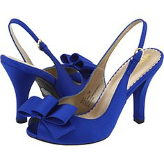 Royal blue shoes for bridesmaids to wear with turquoise dresses