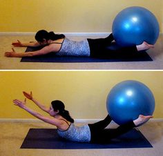 Glutes Exercises For Exercise Ball: this is perfect for at-home workouts. Probably my favorite glute workout without lifting weights