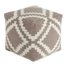 Mercury Row Geometric Pouf Ottoman & Reviews | Wayfair