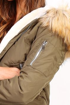 Dámska kaki bomber bunda s kapucňou Rain Jacket, Bomber Jacket, Windbreaker, Jackets, Fashion, Down Jackets, Moda, La Mode, Bomber Jackets