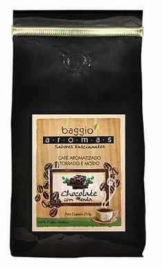 Café Baggio Aromas Chocolate com Menta Torrado e Moído 250g - Moagem para Coador