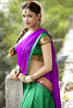 Sout Indian style half saree --by Sasi Prabha