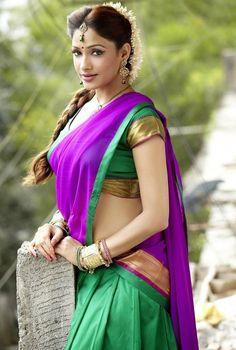 Sout Indian style half saree --by Sasi Prabha