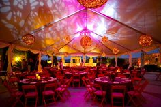 Pink spot lights and grapevine balls. Image from Pearl Events Austin. & 48 best Wedding Tent Lighting Ideas images on Pinterest | Lighting ...
