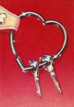 ภเгคк ค๓๏ Graphisches Design, Graphic Design, Illustrations, Illustration Art, 1980s Art, Paper Moon, Airbrush Art, Key To My Heart, Red Aesthetic