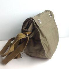 c7ec35f77c72 vintage soviet military satchel / vintage bag / by Bicoestonia Hátitáska