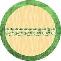 Safari Fundo Limpo - Kit Completo com molduras para convites, rótulos para guloseimas, lembrancinhas e imagens! - Fazendo a Minha Festa