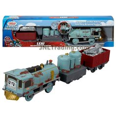 Thomas and Friends Year 2017 Trackmaster Journey Beyond Sodor Series Motorized Railway 3 Pack Train Set - Lexi The Experimental Engine with Metal Scrap Wagon and Gas Tanks Thomas And Friends Toys, Thomas Toys, Animated Halloween Props, Barbie Fashionista Dolls, Thomas The Tank, Train Set, Toddler Toys, Cute Drawings, Engineering