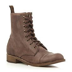 TONYAA SM - Steve Madden Leather Lace Up Worker Boot