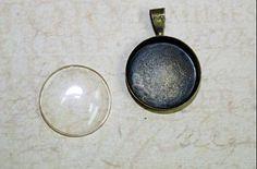 one set Brass Pendant Cabochon Setting bronze by sedonastonesllc, $0.50