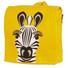Speelse kinder rugzak gemaakt van Bio-katoen opdruk van een zebra, van het Franse merk Coq en Pâte.